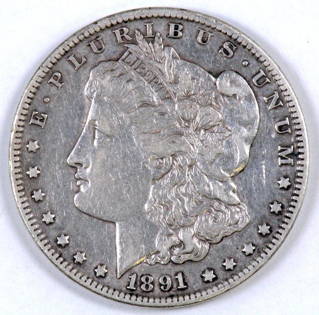 1891 CC Morgan Silver Dollar.