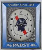 Vintage Pabst Blue Ribbon Light Up Advertising Beer