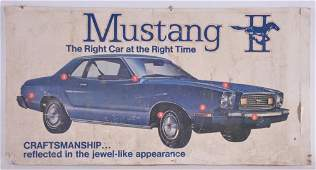 Vintage Ford Mustang Advertising Cardboard Sign
