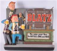Vintage Blatz Light Up Advertising Beer Sign