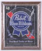 Vintage Pabst Blue Ribbon Advertising Beer Mirror