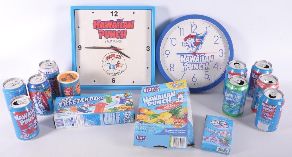 Group of Hawaiian Punch Items
