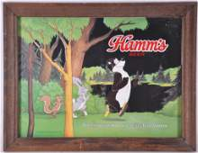 Vintage Hamms Bear Advertising Beer Mirror