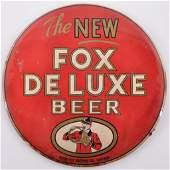 Vintage Fox Deluxe Beer Advertising Celiod on Cardboard
