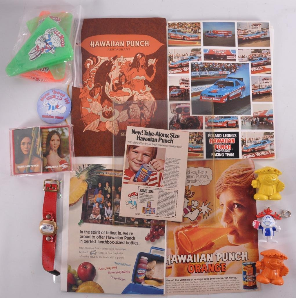 Group of Hawaiian Punch Advertising Items