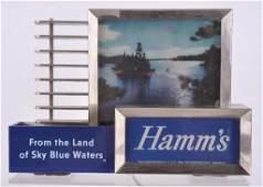 Vintage Hamms Beer Light Up Advertising Back BarCash