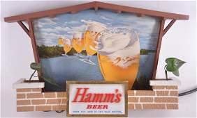 Vintage Hamms Beer Light Up Advertising Sign