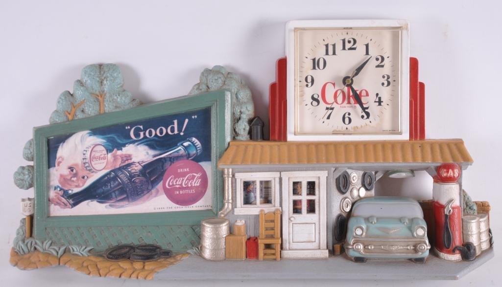 Vintage Coca Cola Advertising Plastic Clock Wall
