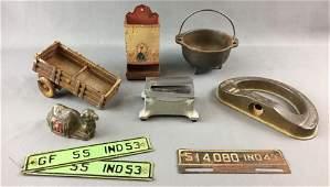 Group of Antique/Vintage Miscellaneous Metal Decor