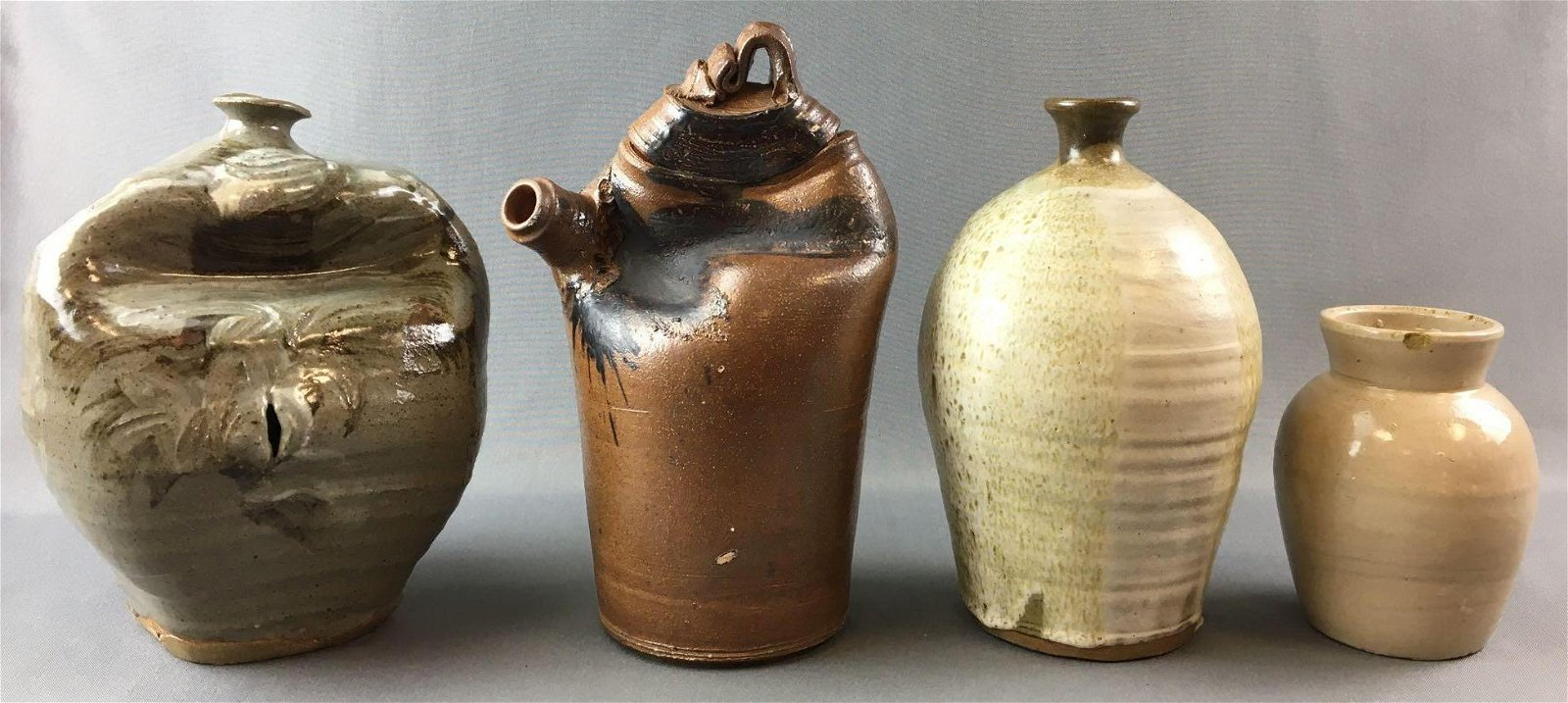 Group of 4 Vintage Pottery Jugs and more