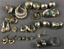 Group of sterling silver jewelry