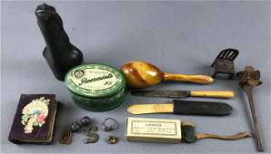 Group of antique items