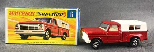 Matchbox Superfast No. 6 Ford Pick-Up Truck Die-Cast