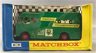 Matchbox King Size K-5 Racing Car Transporter in