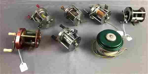 Group of 7 Antique fishing reels