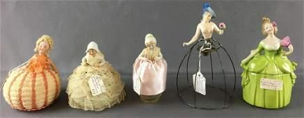 Group of 5 Antique Porcelain Dolls