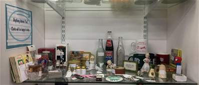 Shelf lot of AntiqueVintage Miscellaneous Items