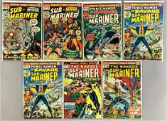 Group of 7 Marvel Comics Sub-Mariner Comic Books