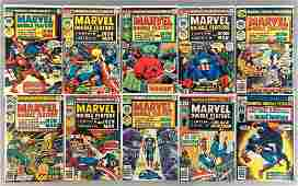 Group of 10 Marvel Double Feature Comic Books