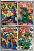 Group of 4 Marvel Greatest Comics Comic Books