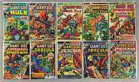 Group of 10 Marvel Comics Giant Size Comic Books
