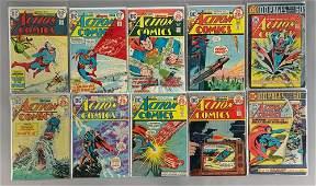 Group of 10 DC Comics Action Comics Featuring Superman