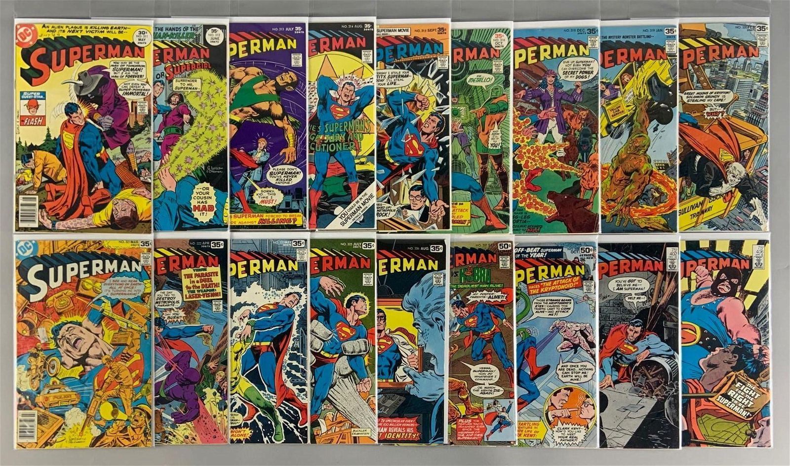 Group of 18 DC Comics Superman Comic Books
