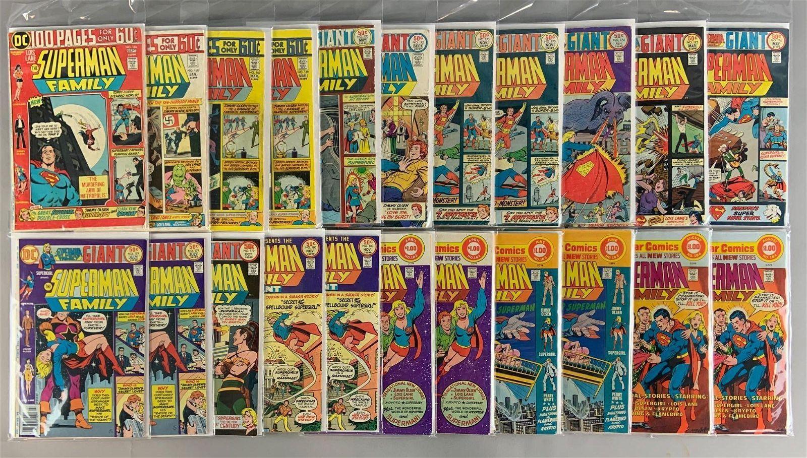 Group of 22 DC Comics The Superman Family Comic Books