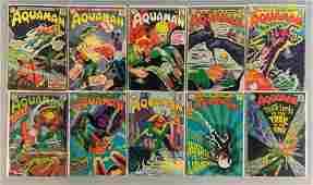 Group of 10 DC Comics Aquaman Comic Books