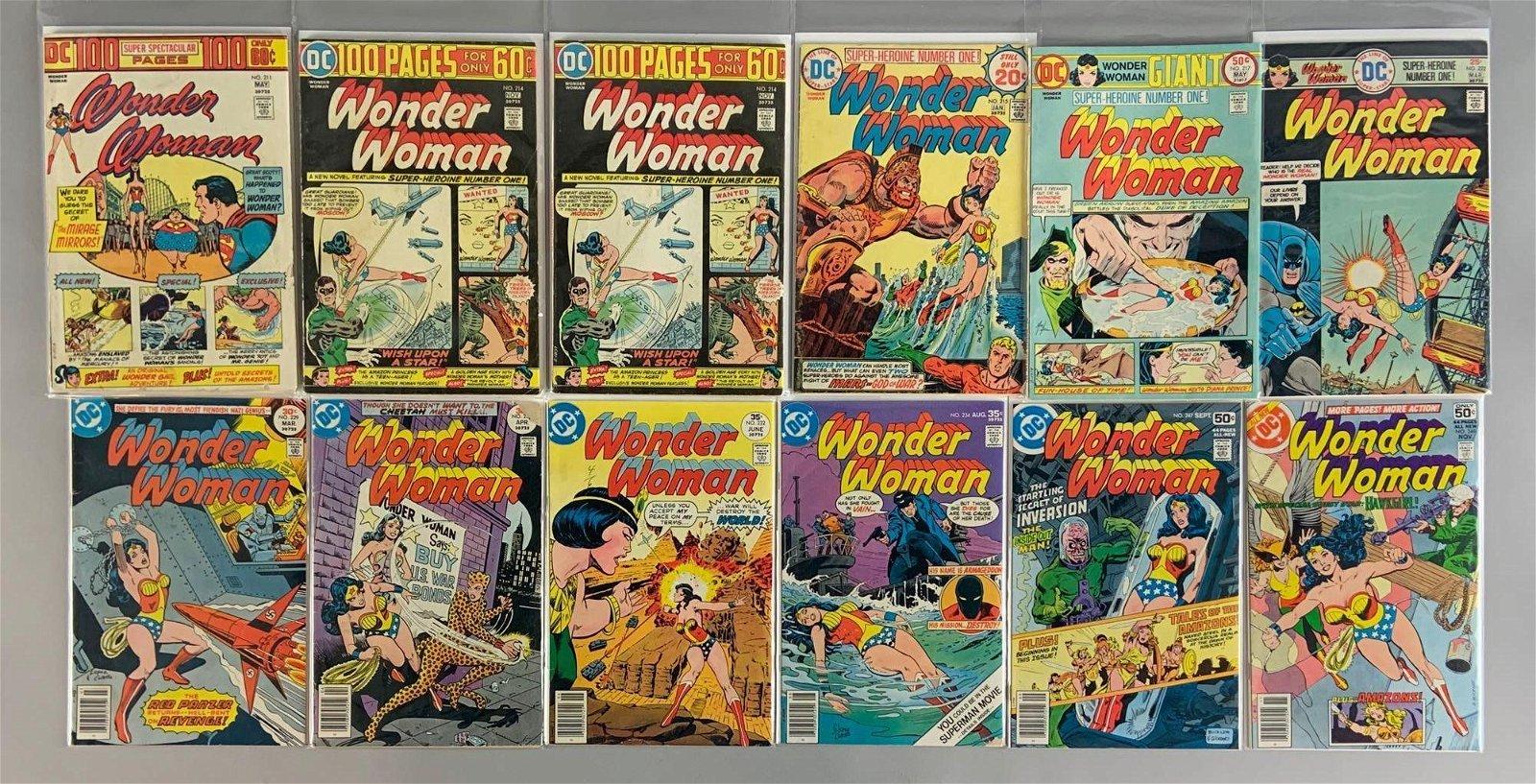 Group of 12 DC Comics Wonder Woman Comic Books