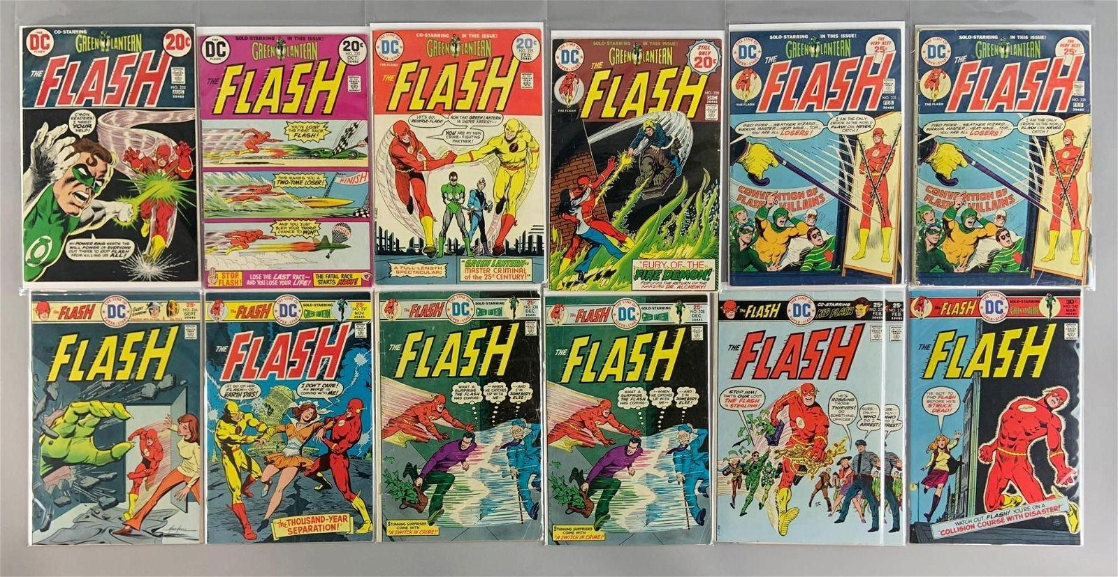 Group of 13 DC Comics The Flash Comic Books