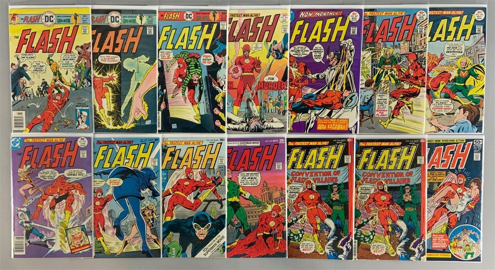 Group of 14 DC Comics The Flash Comic Books