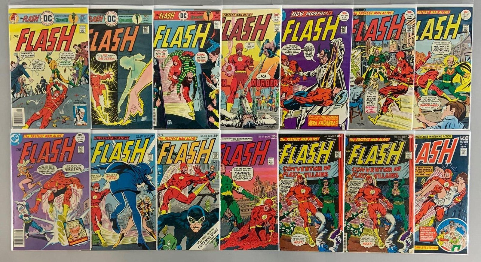 Group of 14 DC Comics The Flash Comic Books