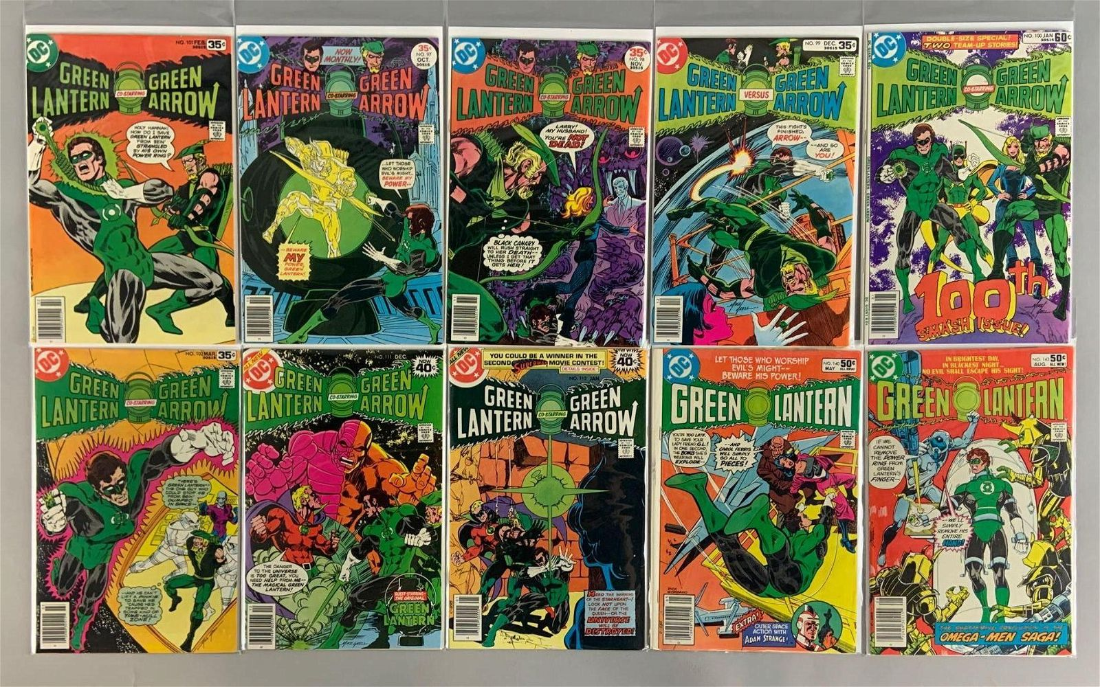 Group of 10 DC Comics Green Lantern Comic Books