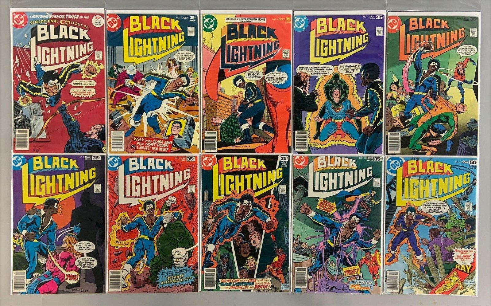 Group of 10 DC Comics Black Lightning Comic Books
