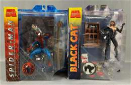 Group of two Marvel Select Spiderman Action Figures