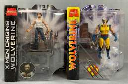 Group of two marvel select Wolverine action figures