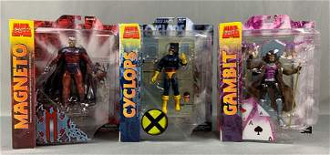 Group of three marvel select action figures