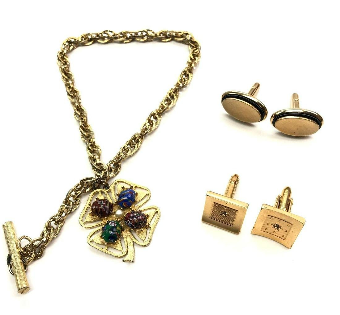 Watch Chain, Fob + Cufflink Pairs