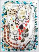 Vintage Colorful Costume Jewelry Collection -