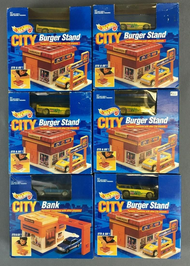 Group of 6 Hotwheels City Sto & Go in Original
