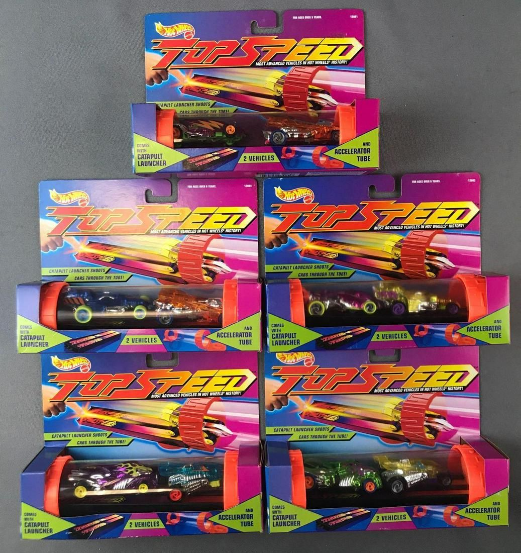 Group of 5 Hot Wheels Top Speed 2-Vehicle Sets