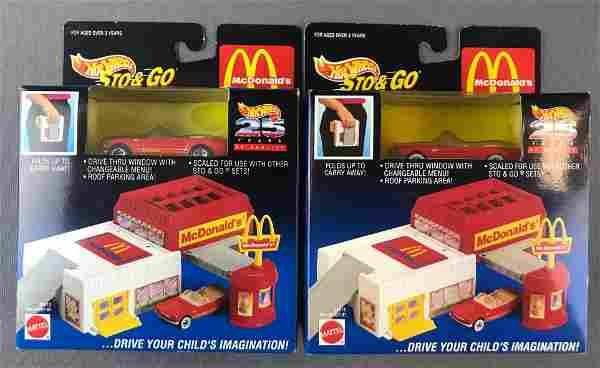 Group of 2 Hot Wheels Sto & Go McDonalds Sets