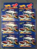 Group of 6 Hot Wheels Sto & Go Mini Market Sets