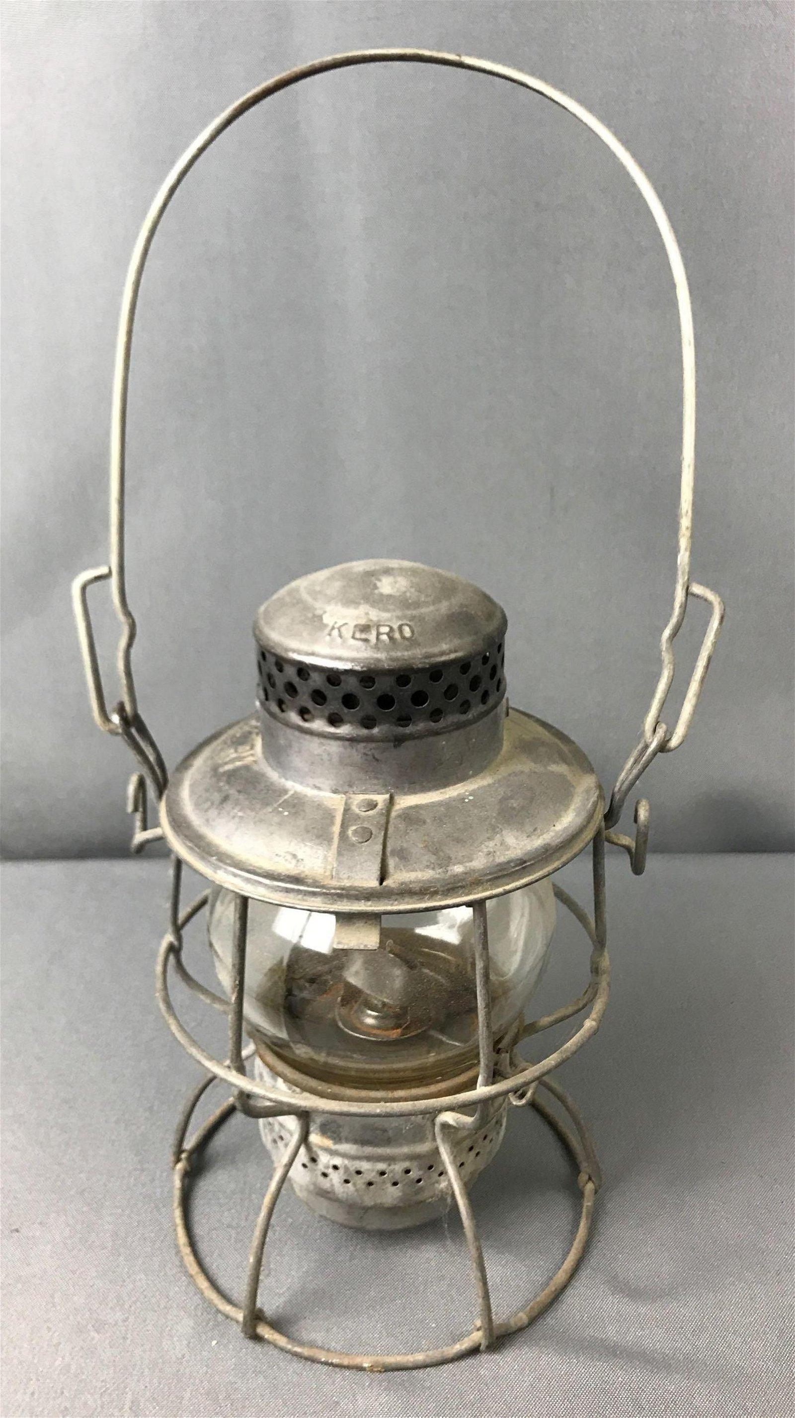 """Antique Adams & Westlake """"Adlake Kero"""" Railroad Lantern"""