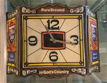 """Vintage """"Old Style"""" Light-up Advertising Beer Clock"""