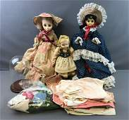 Group of Vintage Dolls, Clothing and Accessories