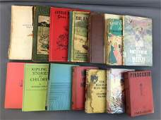 Group of Antique and Vintage Childrens Books 1900s
