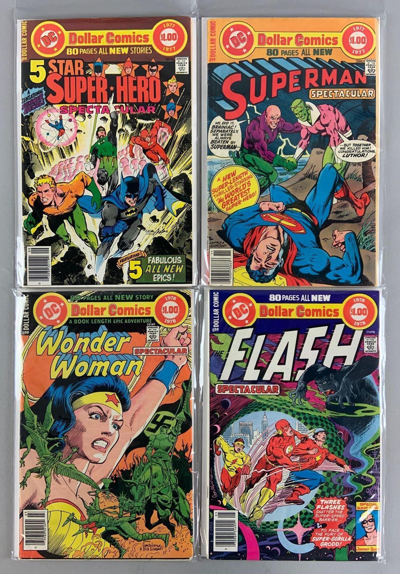 Group of 4 DC Comics Dollar Comic Books