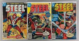 Group of 3 DC Comics Steel The Indestructible Man Comic